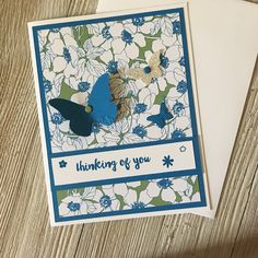 Thinking of you Cards - Friendship Cards Butterfly Cards / Handmade Greeting Cards - Stampin Up Greeting Cards - Personalized Greeting Cards by TheCountryStoreApex on Etsy