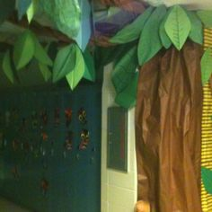"""Our team's tree that went along with our """"Survivor"""" theme for testing. School Themes, Classroom Themes, School Fun, Classroom Door, Summer School, School Stuff, School Ideas, Survivor Theme, Survivor Tv Show"""