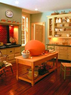 Look closely... that's a regular sized egg in this miniature kitchen by Mulvany & Rogers.