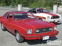 1974 Mustang & 1978 Cobra II babe would have loved the red.