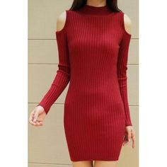 Long Sleeves Solid Color Off-The-Shoulder Stylish Sweater Dress For Women red black (Long Sleeves Solid Color Off-The-Shoulder Styli) by http://www.irockbags.com/long-sleeves-solid-color-offtheshoulder-stylish-sweater-dress-for-women-red-black