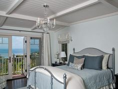 Coastal-Inspired Bedrooms l HGTV  I really like the ceiling. And the view... :P