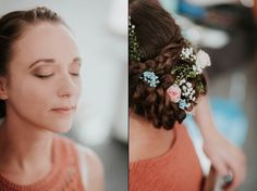 Coiffure mariage inspiration fleurie