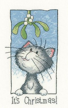 It's Christmas - Cat's Rule Cross Stitch kit by Heritage Crafts