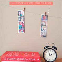 Make your own Instagram photo strip or bookmark! These are fun to hang by your desk, use as a bookmark, or send to a friend.