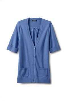Women's Cotton Modal Half Sleeve Cardigan Sweater