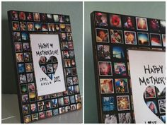 Homemade Picture Frames, Homemade Pictures, Gift Ideas With Pictures, Display Pictures, Collage Foto, Collage Picture Frames, Photo Collage Gift, Pic Collage Ideas, Photo Frame Ideas