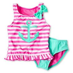 Toddler Girl Clothes for Baby - JCPenney Summer Bathing Suits, Cute Bathing Suits, Toddler Fashion, Kids Fashion, Luna Fashion, Kids Swimwear, Swimsuits, Kids Outfits, Summer Outfits