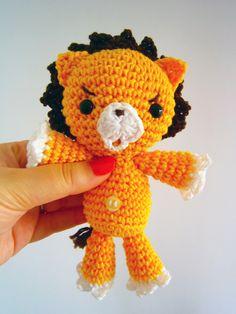 Kon Bleach plush, Kon crochet toy, Kon Amigurumi, Kon Stuffed toy, Lion amigurumi, Lion plush, Lion stuffed toy by CrisCrossCrafts on Etsy https://www.etsy.com/listing/165440694/kon-bleach-plush-kon-crochet-toy-kon