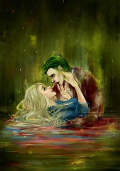 Harley Quinn and Joker Harley And Joker Love, Joker Und Harley Quinn, Der Joker, Joker Art, Harley Quinn Drawing, Harely Quinn, Joker Wallpapers, Madly In Love, Mad Love