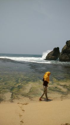 Yogyakarta, Indonesia. Drini beach Four Square, Travelling, Beach, Water, Outdoor, Gripe Water, Outdoors, The Beach, Outdoor Games