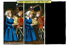 9 March 2014 - Peter Brookes Cartoon. Crimea crisis and Russia's hold over them.