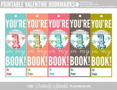Printable Valentine Bookmarks   A Valentine's Day Link Party!