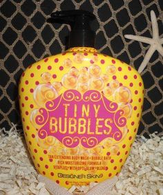 2013 Designer Skin | Tiny Bubbles | Tan Extending Body Wash & Bubble Bath also bought and can't wait to try
