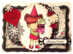 MyCarden: Christmas Wishes To All - Loves Rubberstamps Sensational Sunday Blog Hop - Design Team Member Dangina Martinez using C.C. Designs
