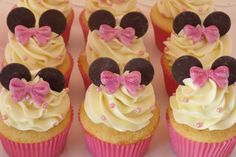 - Minnie Mouse Cupcakes for child's birthday.