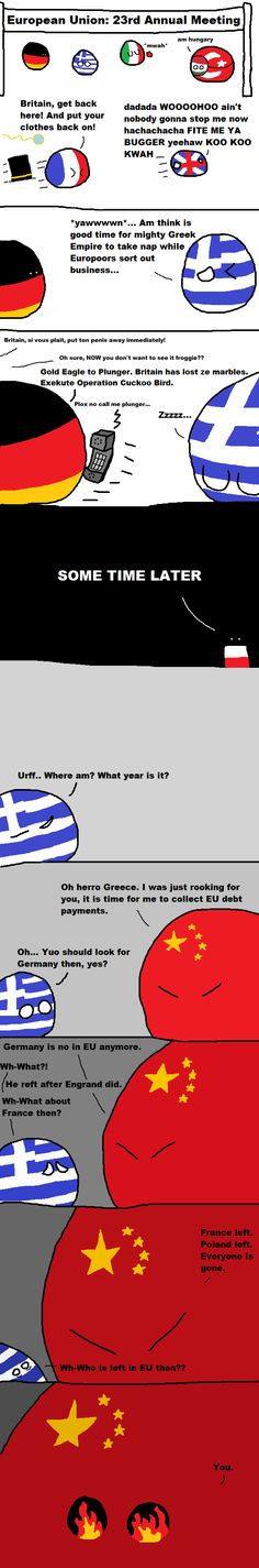 Greece takes a nap