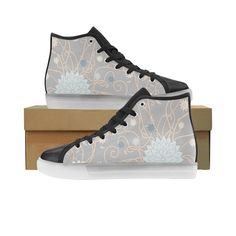 Abstract Floral Pattern Honey Custom Light Up Men's Shoes — Foot Gear US Turn The Lights Off, Light Up Shoes, Different Light, Custom Lighting, Men S Shoes, High Top Sneakers, Honey, Abstract, Floral