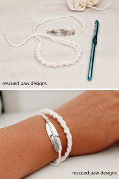 Crochet Bracelet Pattern - Rescued Paw Designs via @rescuedpaw