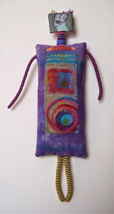 Art Dolls & Textiles by Jennifer Gould: New Dolls at Synchronicity Gallery, Glen Arbor, Michigan
