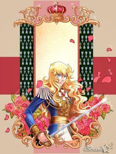 Lady Oscar by Lunalaef on DeviantArt Lady Oscar, Marie Antoinette, Manga Art, Sweet Dreams, Princess Zelda, Kawaii, Deviantart, Statue, Illustration
