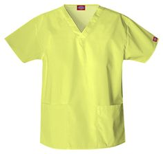 """V-Neck Top in Keylime Classic Missy Fit, V-neck, features two patch pockets and side vents for ease of movement. Center back length: 26.5"""".  Fabric: Poly/Cotton $14.99 #scrubs #nurses #doctors #medicaloutlet"""