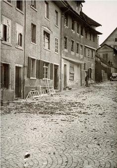 Photobibliothek.ch - Bombardierung der Brücke Diessenhofen 1944