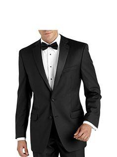 Men's TUX-2 Regular Fit Tuxedo Suit - Black - 44S
