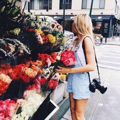 Mornings at the flower market.