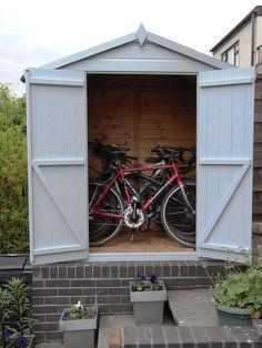 Farrow and Ball painted shed