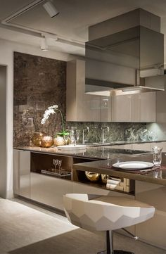 Fendi Casa Ambiente Cucina views from Luxury Living new showroom...