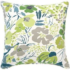Pine Cone Hill Hot House Decorative Pillow in Spring. Like the color combo, blue, green and grey.