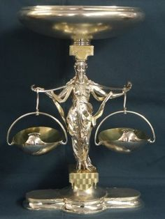 Sterling Silver Figural Centerpiece Hallmarked KB : Lot 107