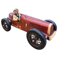 how to make wooden miniature car Antique Toys, Vintage Toys, Miniature Cars, Rubber Tires, Hand Carved, Carved Wood, Cool House Designs, Wood Toys, Wood Carving