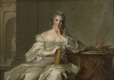 Portrait of Henriette as Fire, series of Four Elements, 1751, Oil on canvas, 97 x 136 (Museu de Arte, Sao Paulo); commissioned in 1749 for south wing of the palace of Versailles