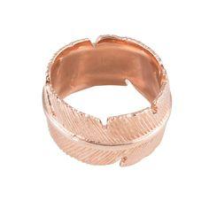 Brede rosegouden ring in zilver