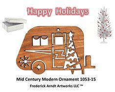 1053-15 Mid Century Modern Christmas Ornament