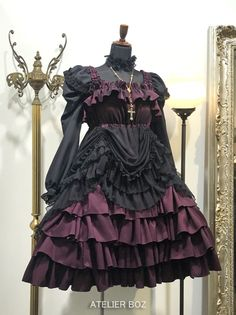 フローレンスサンドレス[6338] Gothic Lolita Fashion, Punk Fashion, Fashion Outfits, Looks Dark, Lolita Cosplay, Victorian Goth, Fancy Costumes, Fantasy Dress, Japanese Street Fashion