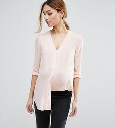 ASOS Maternity V Neck Blouse - Pink