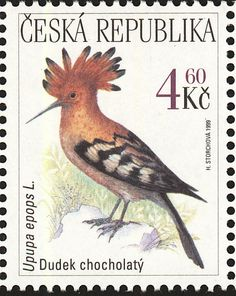 Birds on stamps: Czech Republic Tsjechie République Tchèque Chec
