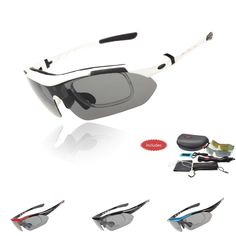 Professional Polarized Cycling Glasses Bike Goggles Outdoor Sports Bicycle Sunglasses UV 400 With 5 Lens TR90 5 color    1,Frame for myopia lens  myopia frame can be fixed on the behind of sunglass,it proveides convenience to myopes    2. two kinds of wearing way  mode 1 is normal :the most common wearing way for walking ,diving ,riding etc everyday wear  mode 2 is sports:sports headband can firmly fix the glasses,to prevent falling,suitable for running,basketball and other strenuous…