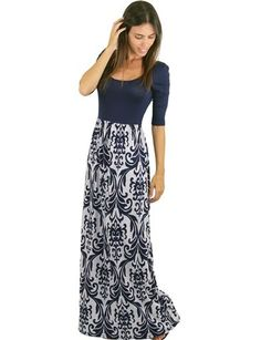 3 4 sleeve long maxi dress 18