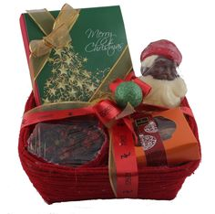 Christmas Celebration Hamper- chocolates, cookies, candle, milk chocolate santa claus