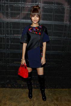 Stars attend New York Fashion Week fall 2015 Victoria Justice
