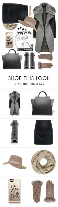 """""""Untitled #735"""" by ellma94 ❤ liked on Polyvore featuring River Island, ZAC Zac Posen, Prada, McQ by Alexander McQueen, Topshop, John Lewis, Casetify, UGG, Beautycounter and Winter"""
