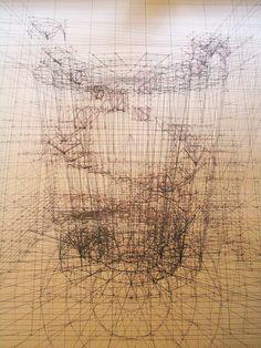 躍動感溢れる生物を鉛筆・定規・分度器のみで幾何学的に描いたイラストシリーズ「Calculation」 - DNA