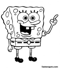 printable cartoon spongebob patrick squarepants coloring pages printable coloring pages for kids coloring pages pinterest spongebob patrick - Kids Printable Coloring Pages