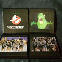 Ghostbusters Ceramic Tile Drink Coaster Set ...another addition to our Movie & TV series. Now available at www.thecoastalworkshop.etsy.com