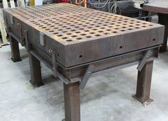 Acorn Style x x thick table Welding Table Machinery For Sale, Welding Table, Acorn, Pallet, Furniture, Home Decor, Style, Swag, Shed Base