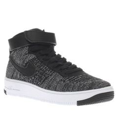 Nike Black Air Force 1 Ultra Mid Flyknit Unisex Lighter than ever, the Nike Air Force 1 Ultra Mid arrives for your stylish little one. Arriving in black, the sporty kids trainer features a breathable Flyknit upper, designed for all-day comfort and  http://www.MightGet.com/january-2017-13/nike-black-air-force-1-ultra-mid-flyknit-unisex.asp